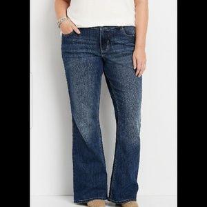 Maurice's Distressed Flair Jean's sz 14 (H164)